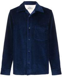 Acne Studios Ribfluwelen Overhemd - Blauw