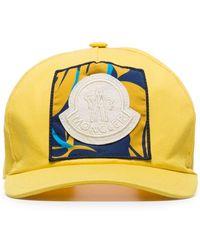 Moncler Gorra de béisbol con parche del logo bordado - Amarillo
