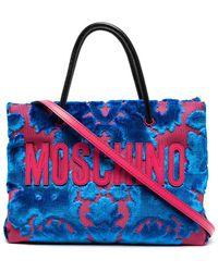 Moschino タペストリー ハンドバッグ - ブルー