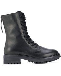 P.A.R.O.S.H. Ботинки На Молнии Со Шнуровкой - Черный