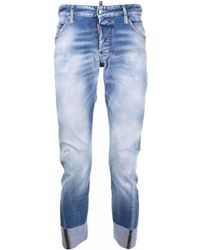 DSquared² Turn-up Cropped Jeans - Blue