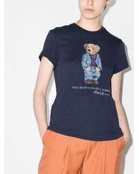 Polo Ralph Lauren テディベア プリント Tシャツ - ブルー