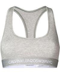 CALVIN KLEIN 205W39NYC スポーツブラ - グレー