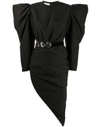 Loulou シャーリング ドレス - ブラック