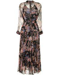 Mes Demoiselles Платье-рубашка Макси С Цветочным Узором - Черный