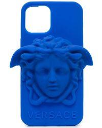 Versace Чехол Для Iphone 12 Pro С Логотипом Medusa - Синий