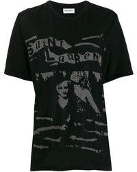 Saint Laurent ロゴ Tシャツ - ブラック