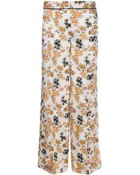 Victoria, Victoria Beckham Брюки Panama С Цветочным Принтом - Естественный