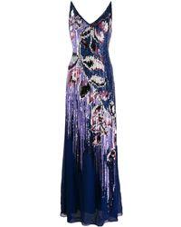 Emilio Pucci Платье С Пайетками - Синий