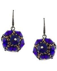 Bottega Veneta Drop Earrings - Blue