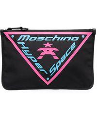 Moschino Клатч С Графичным Принтом - Черный
