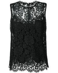 Dolce & Gabbana - レーストリム トップ - Lyst