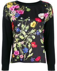 Blugirl Blumarine - Poppy Print Sweatshirt - Lyst