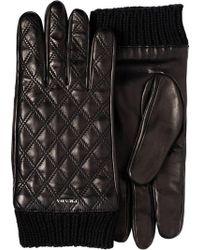 Prada - Handschuhe mit Rautenmuster - Lyst