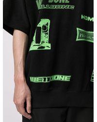 we11done T-Shirt mit grafischem Print - Schwarz