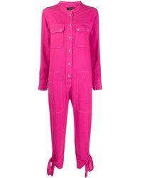 Isabel Marant ボタン ジャンプスーツ - ピンク