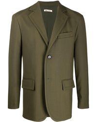 Marni ウール シングルジャケット - グリーン