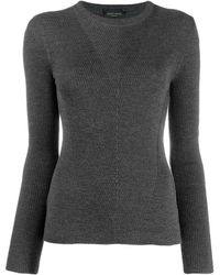Roberto Collina Ribbed Sweatshirt - Gray