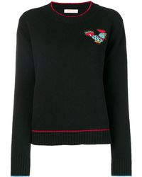 LaDoubleJ Badge Detail Sweater - Black