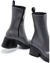 Chloé Betty 75mm Rain Booties - Grey