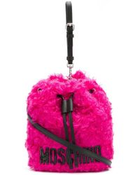 Moschino - Furry Drawstring Bag - Lyst