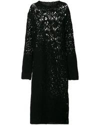 Yohji Yamamoto オープンニット ドレス - ブラック