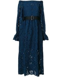 Perseverance London - Embroidered Cut-out Dress - Lyst