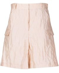 Emporio Armani High Waisted Cargo Shorts - Pink