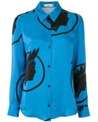 Amir Slama Рубашка С Принтом Índio - Синий