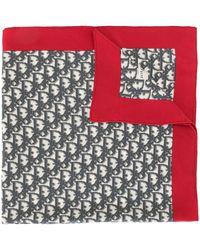 Dior Sjaal Met Trotterpatroon - Rood