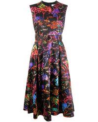 MSGM - Платье Без Рукавов С Цветочным Принтом И Поясом - Lyst