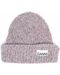 Ganni Logo-patch Beanie - Green