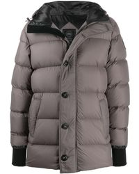 Canada Goose Padded Hooded Coat - Gray