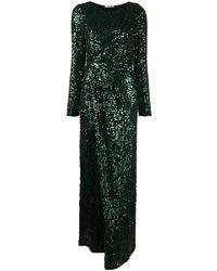 P.A.R.O.S.H. Платье С Длинными Рукавами И Пайетками - Зеленый