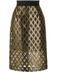 Dolce & Gabbana エンブロイダリー スカート - グリーン