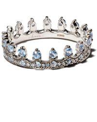 Annoushka Crown サファイアリング 18kホワイトゴールド - メタリック