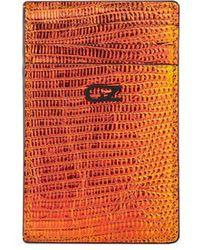 Giuseppe Zanotti Картхолдер С Логотипом И Тиснением - Оранжевый