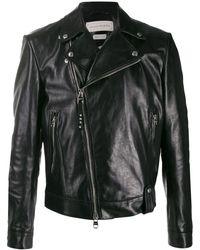 Alexander McQueen Куртка Со Смещенной Молнией - Черный