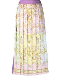 Versace Jeans Couture Falda plisada a paneles - Morado