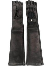 Manokhi Long Biker Gloves - Black