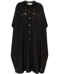 Chloé - Button Detail Hooded Cape - Lyst