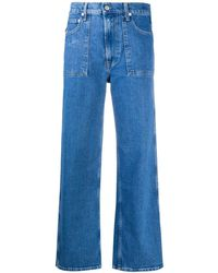 Helmut Lang Cropped Factory Jeans - Blue