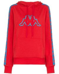 Charm's X Kappa Logo Embroidered Cotton-blend Hoodie
