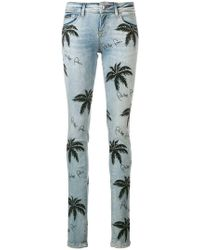 Philipp Plein - Palm Tree Print Skinny Jeans - Lyst