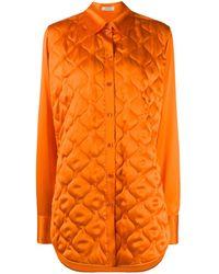 Nina Ricci ロングライン シャツ - オレンジ