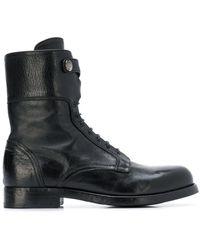Alberto Fasciani レザー ブーツ - ブラック