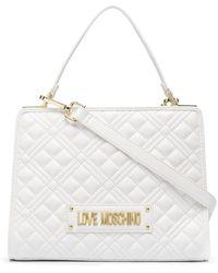 Love Moschino キルティング ハンドバッグ - ホワイト