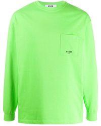 MSGM - パッチポケット スウェットシャツ - Lyst