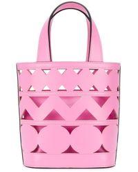 Casadei Perforated Bucket Bag - Pink