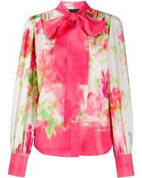 Marc Jacobs Блузка С Абстрактным Цветочным Принтом - Розовый